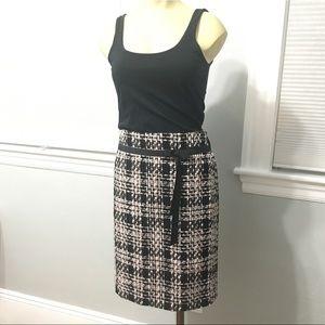 Woven multicolor pencil skirt size 10